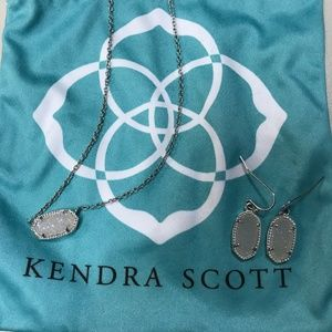 Kendra Scott Lee Earring & Elisa Necklace